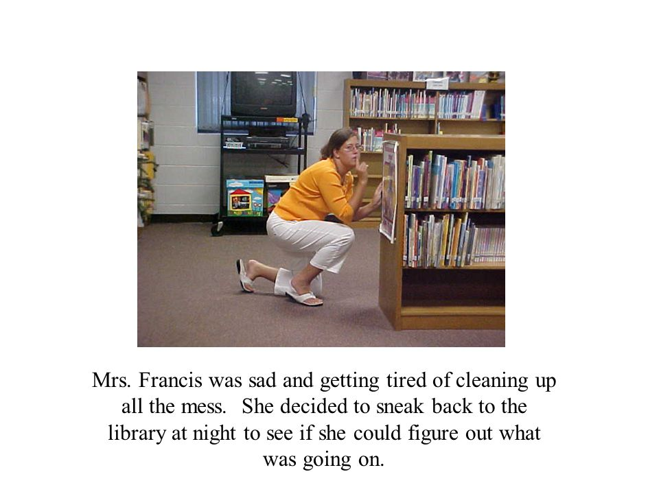 Mrs. Francis was sad and getting tired of cleaning up all the mess