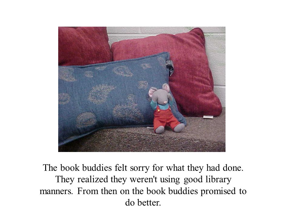 The book buddies felt sorry for what they had done