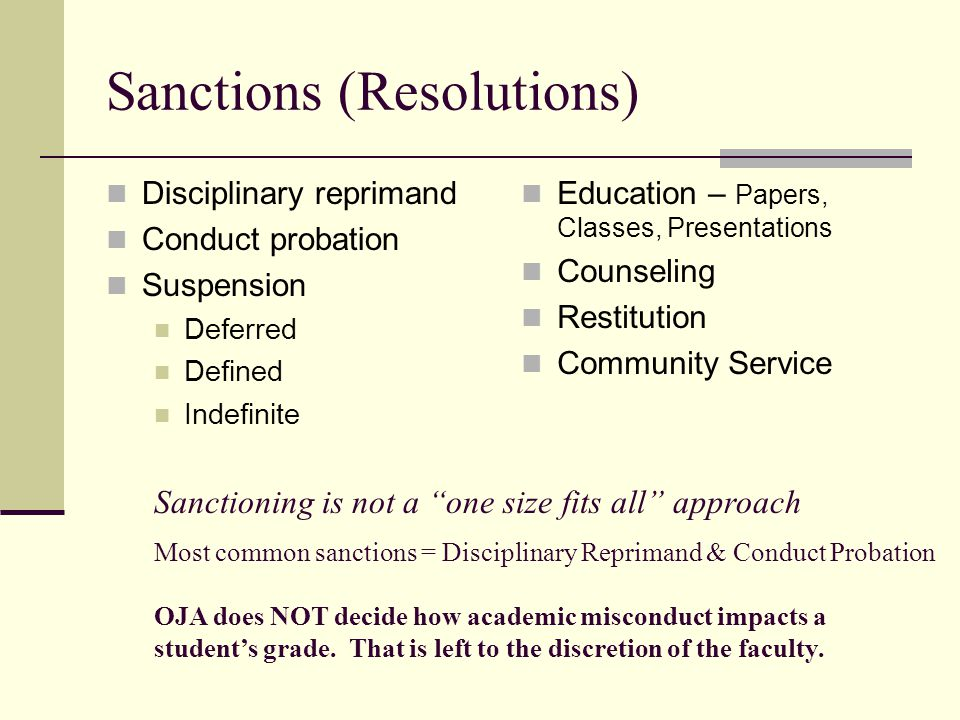 Sanctions (Resolutions)