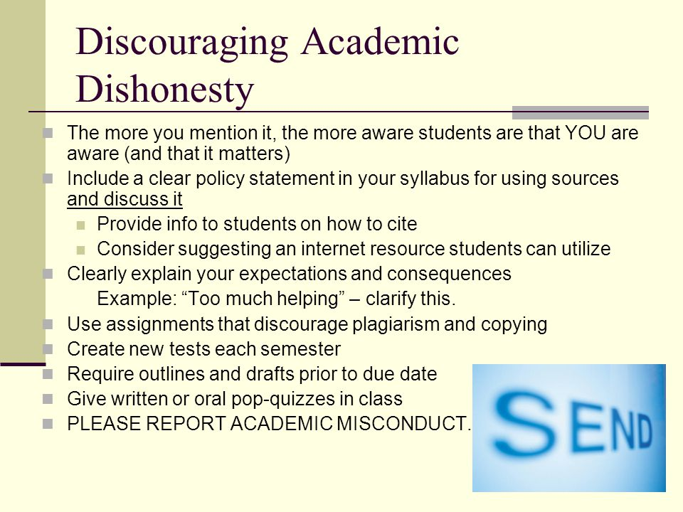Discouraging Academic Dishonesty