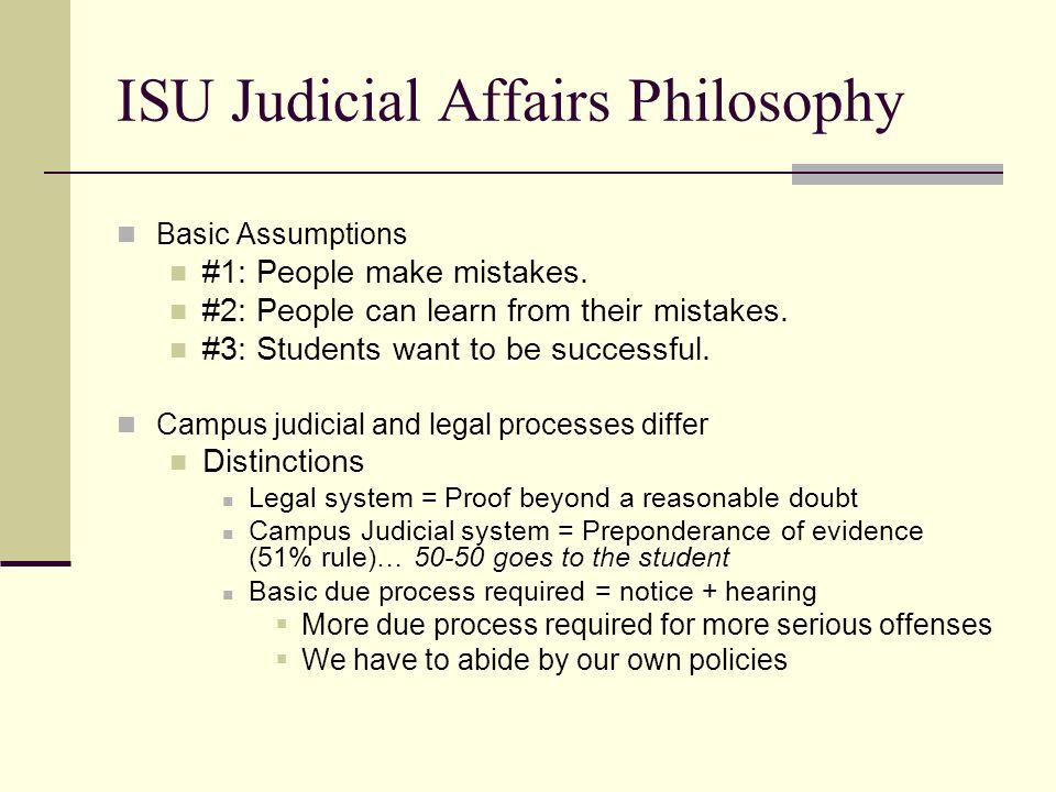 ISU Judicial Affairs Philosophy
