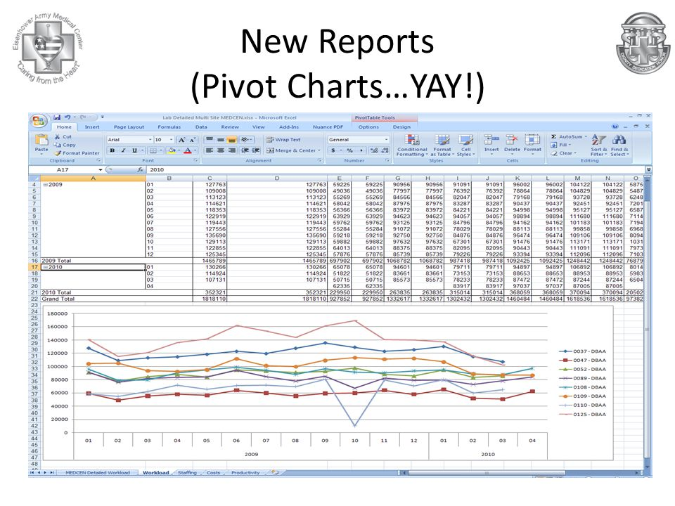 New Reports (Pivot Charts…YAY!)