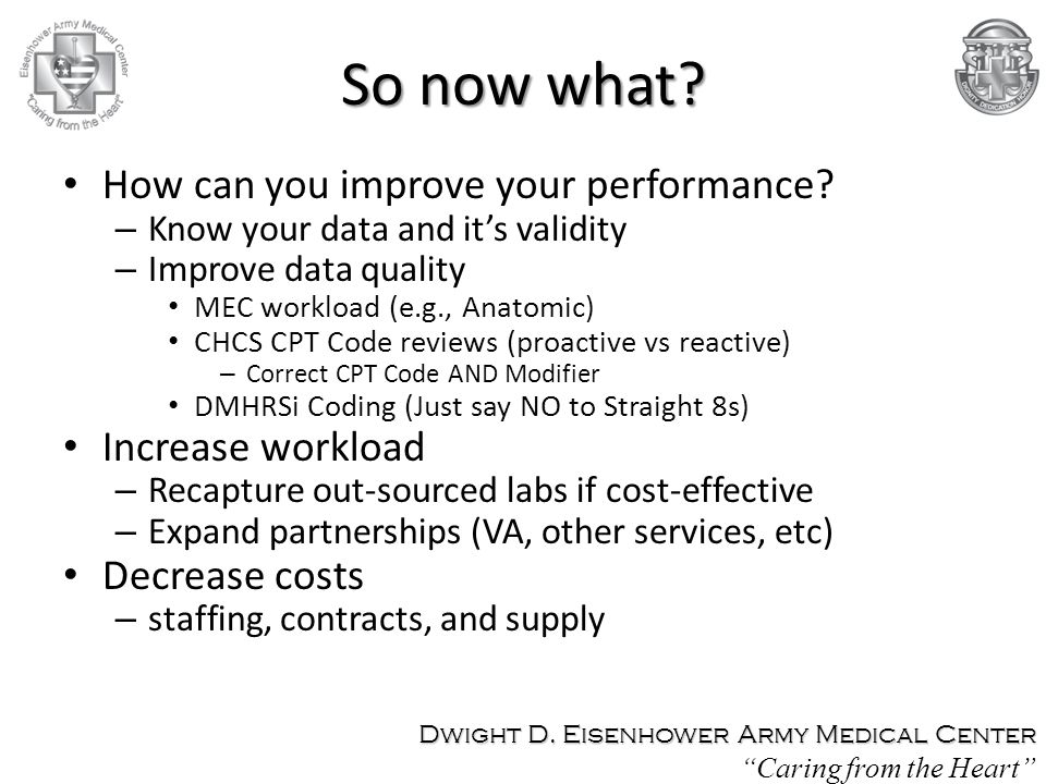 So now what How can you improve your performance Increase workload