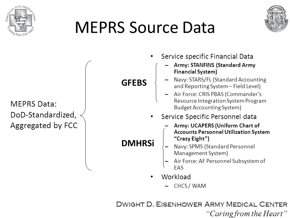 MEPRS Source Data GFEBS DMHRSi MEPRS Data: