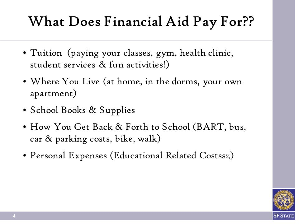 What Does Financial Aid Pay For