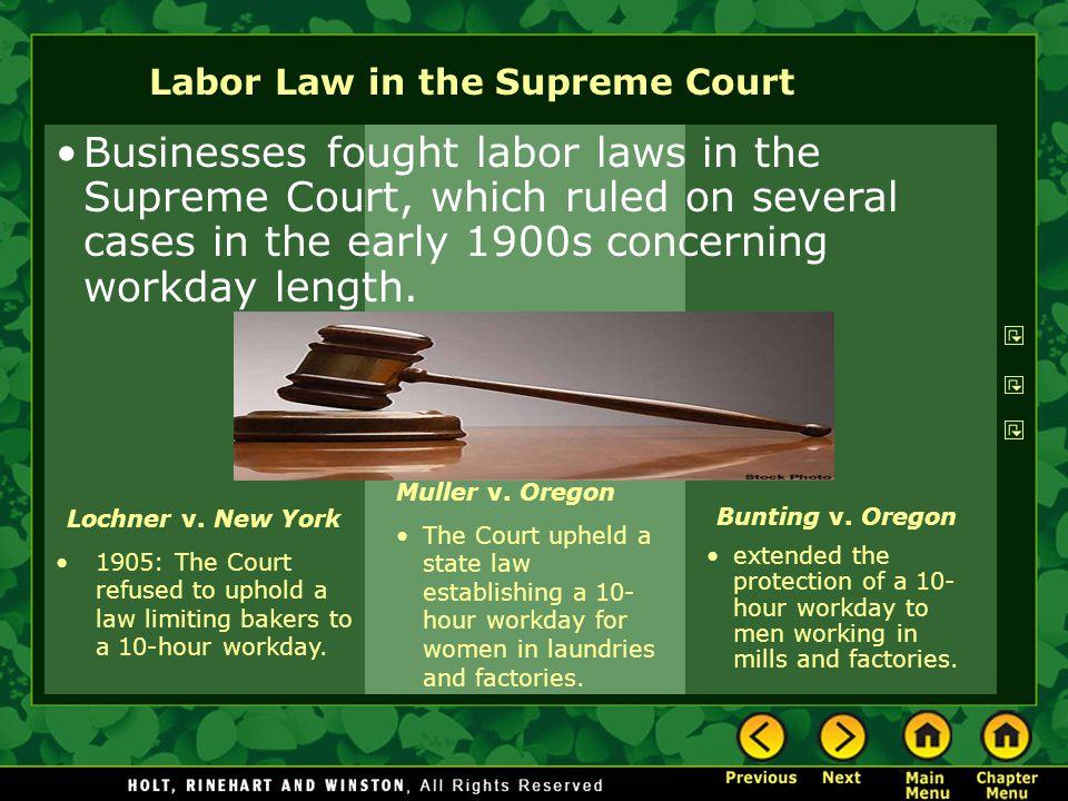 Labor Law in the Supreme Court