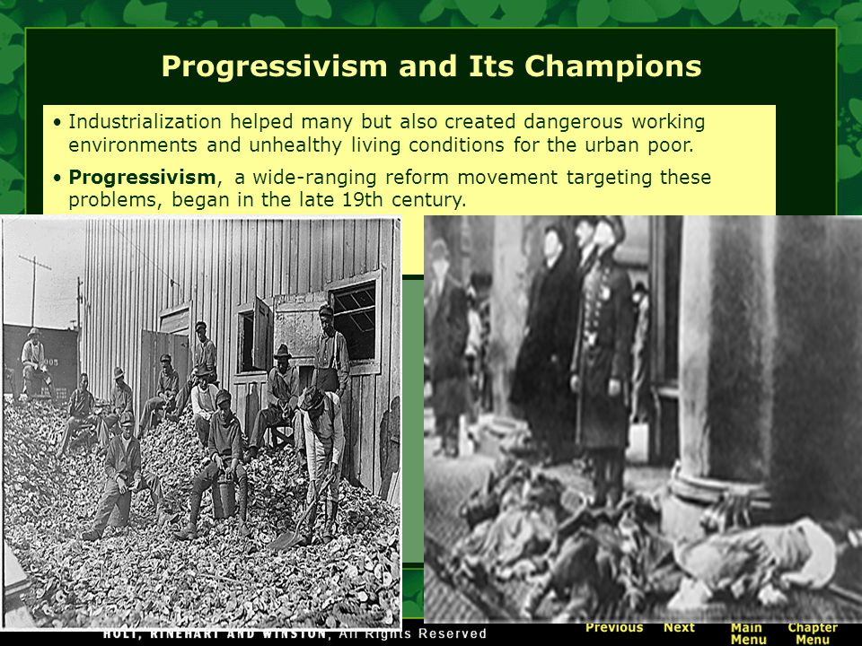 Progressivism and Its Champions