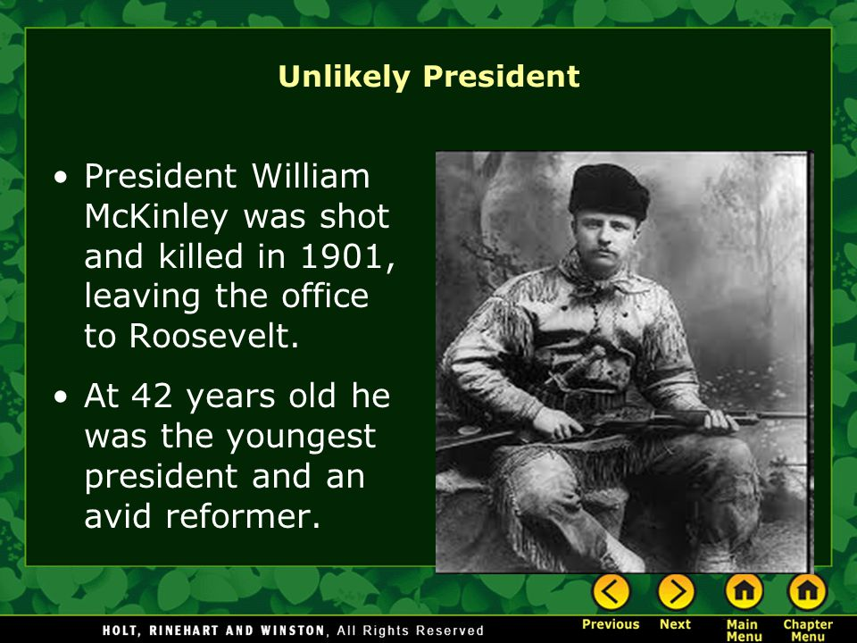 At 42 years old he was the youngest president and an avid reformer.