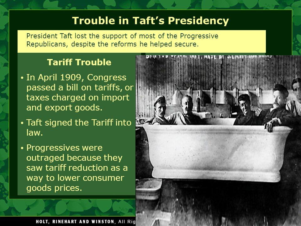 Trouble in Taft's Presidency
