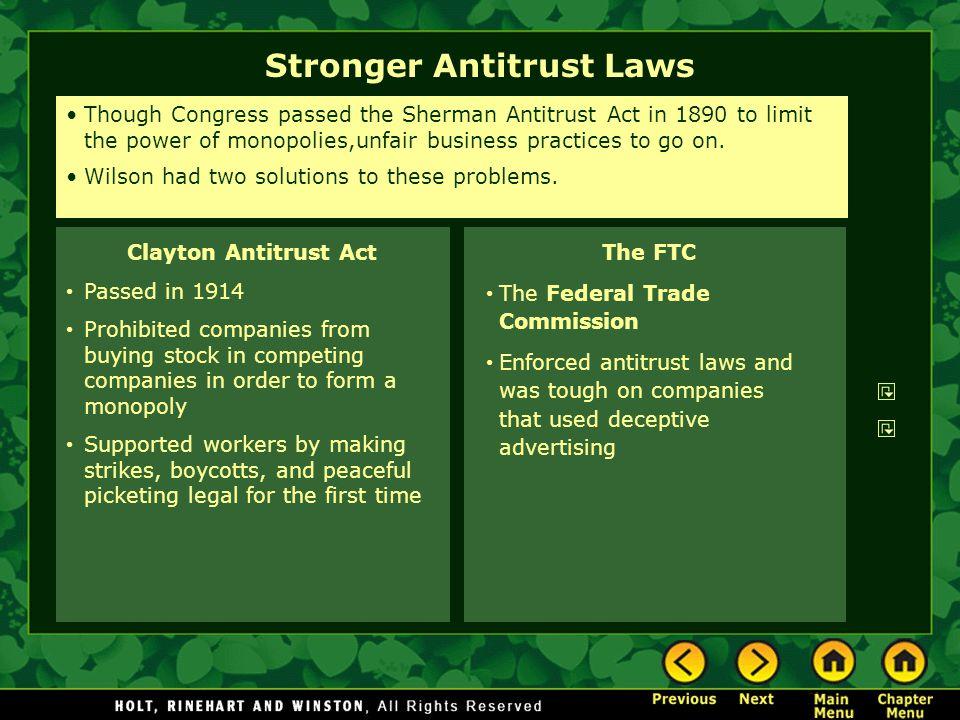 Stronger Antitrust Laws