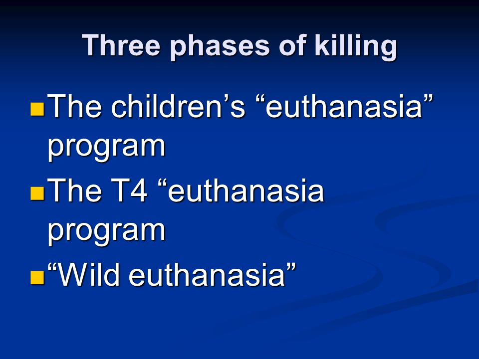 Three phases of killing