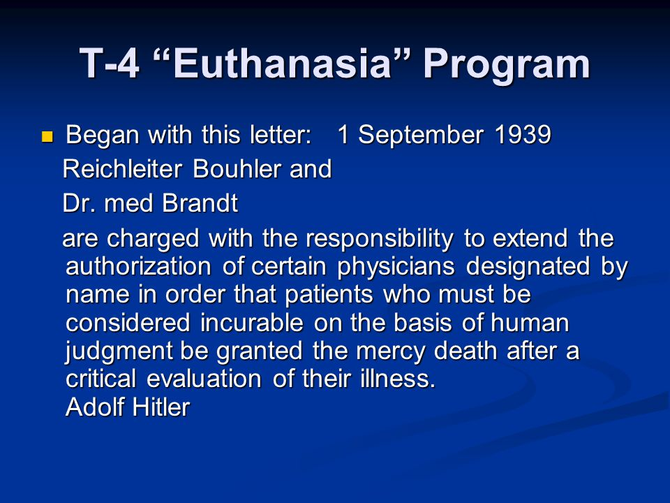T-4 Euthanasia Program
