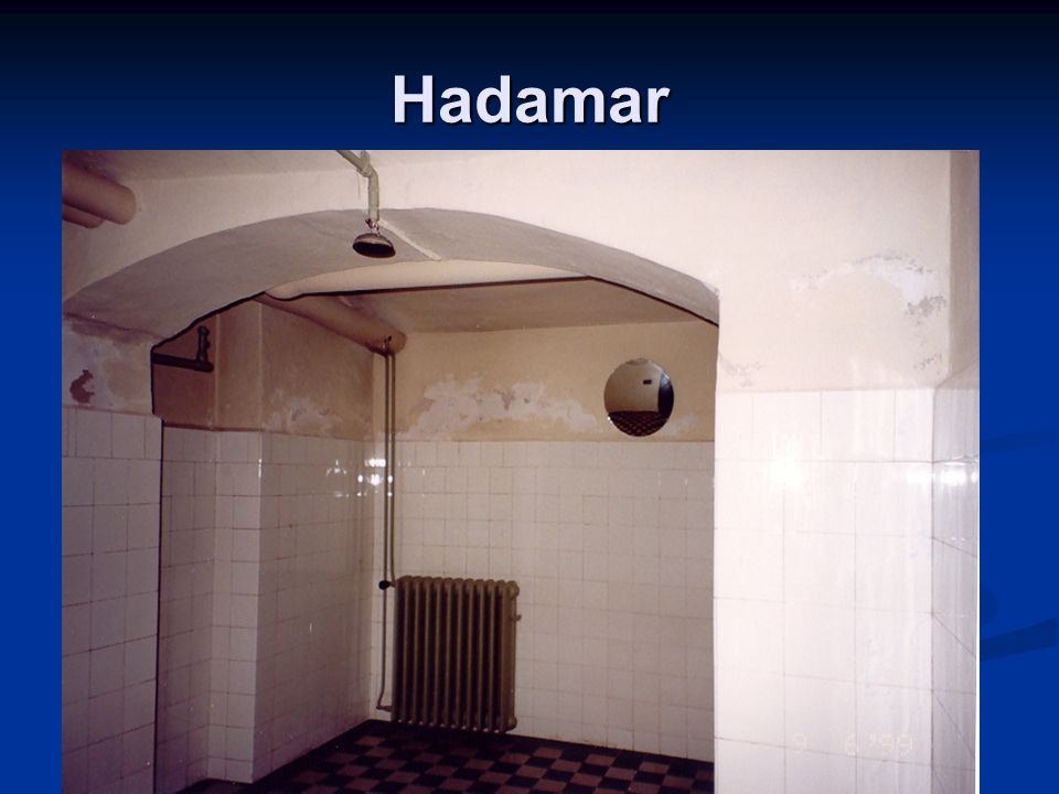 Hadamar Inside the gas chamber.