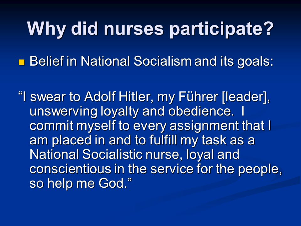 Why did nurses participate