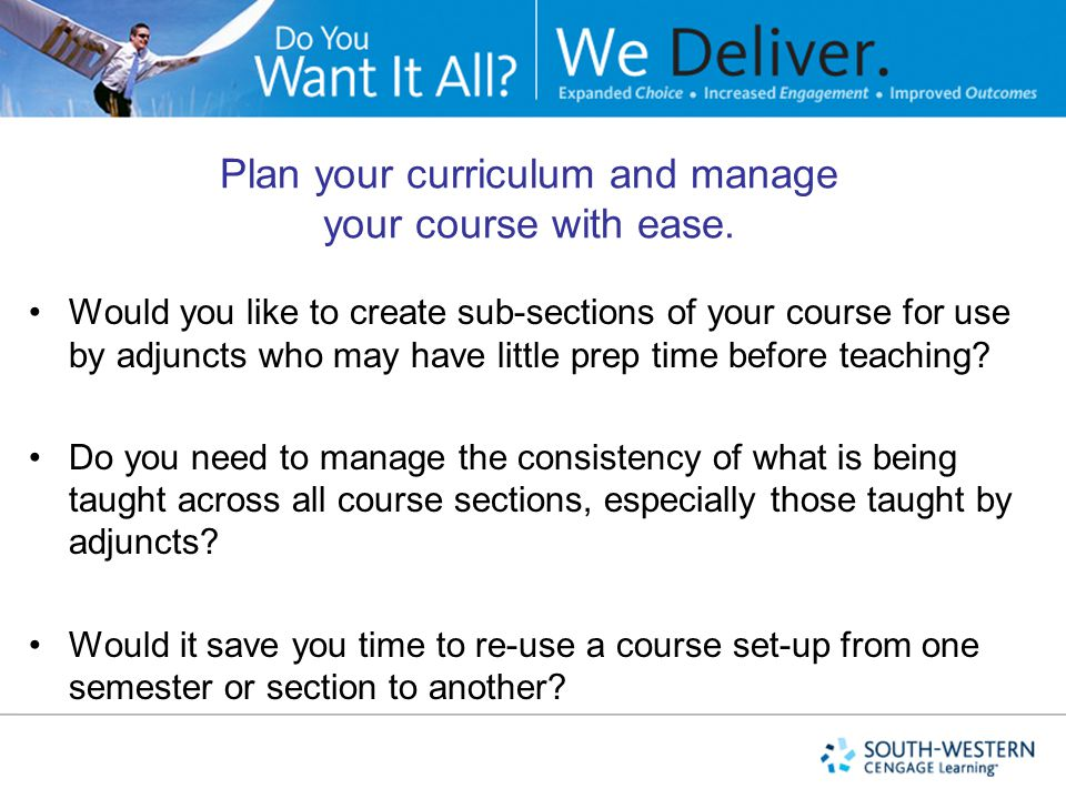 Plan your curriculum and manage your course with ease.