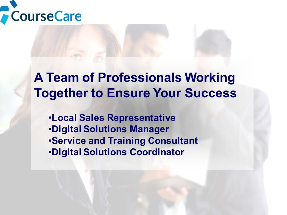 A Team of Professionals Working Together to Ensure Your Success