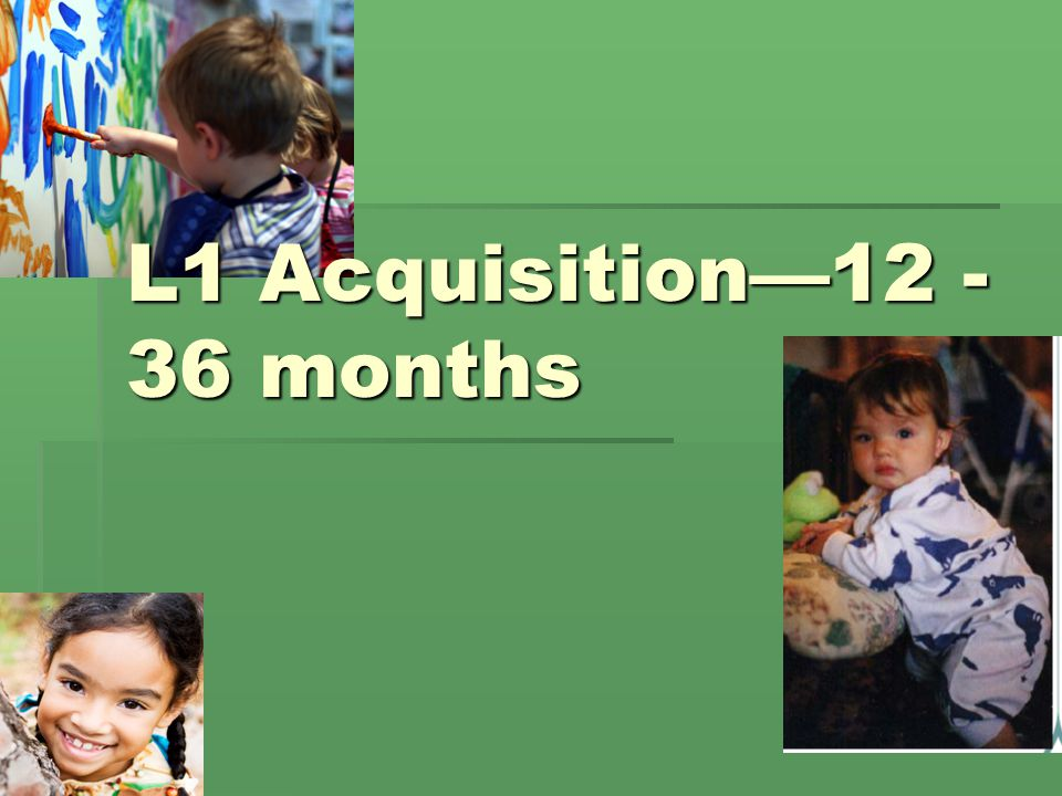 L1 Acquisition—12 -36 months