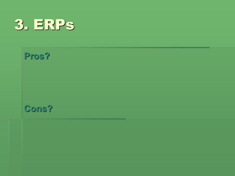 3. ERPs Pros Cons