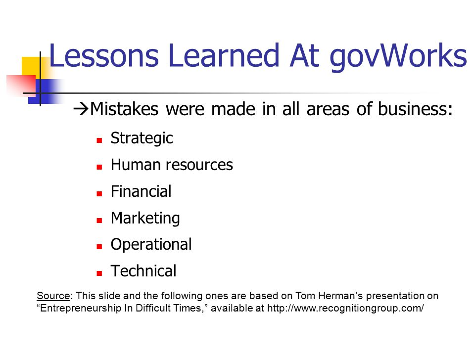 Lessons Learned At govWorks