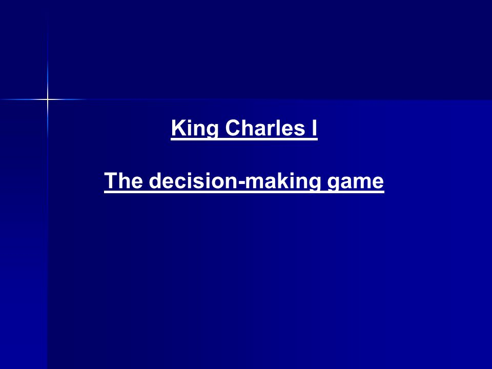 The decision-making game