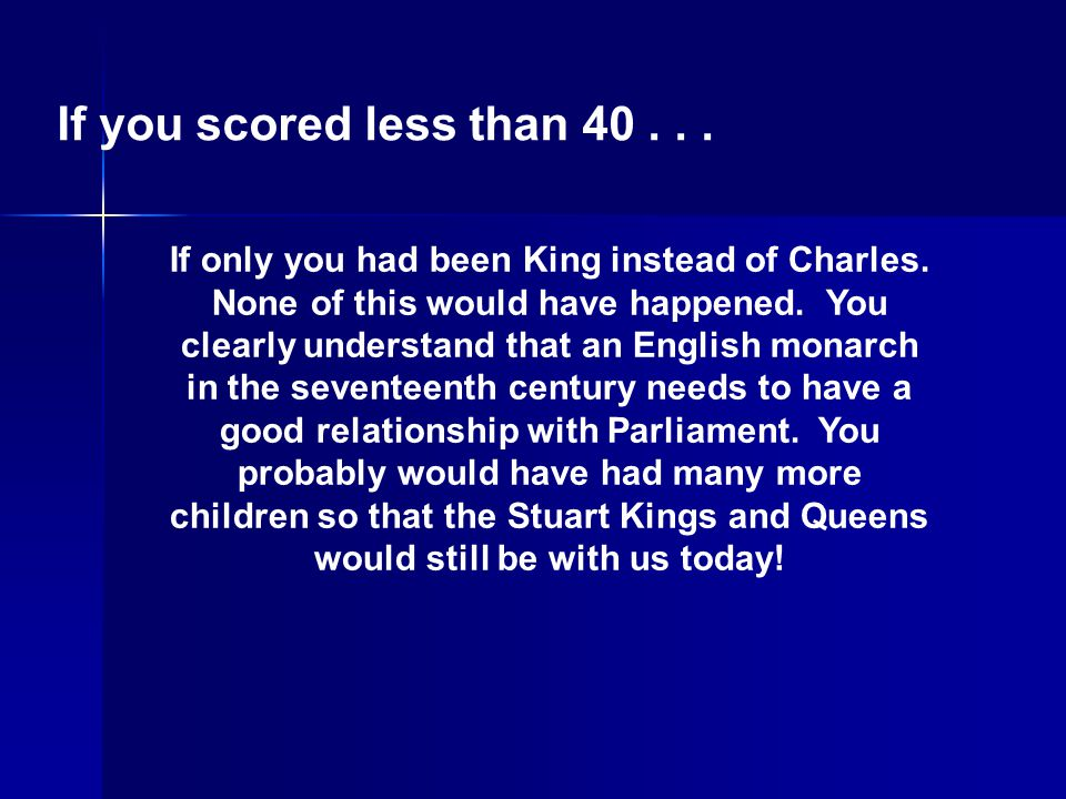 If you scored less than 40 . . .