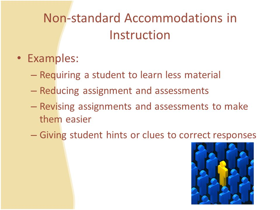 Non-standard Accommodations in Instruction