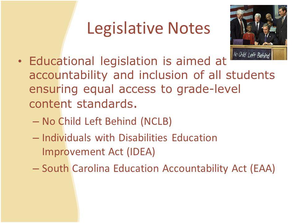 Legislative Notes