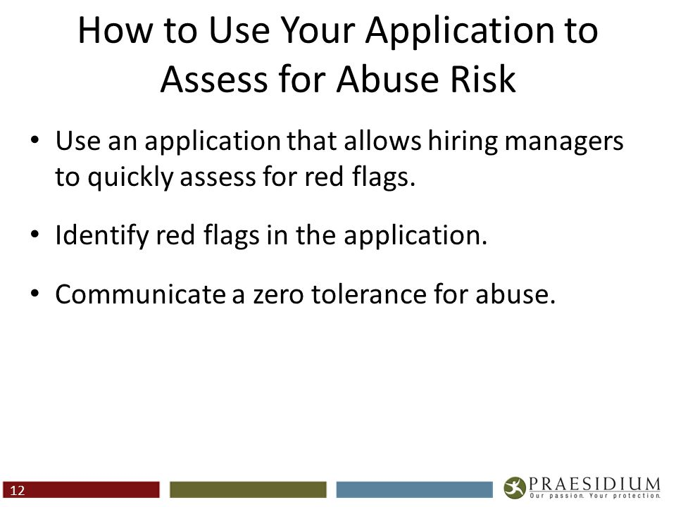 Red Flags In Applications
