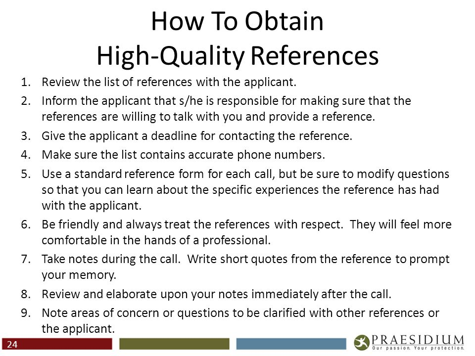 Questions To Ask Professional References