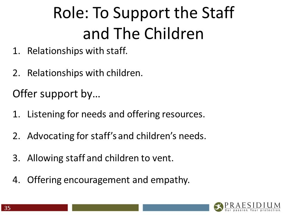 Role: To Supervise and Coach Staff