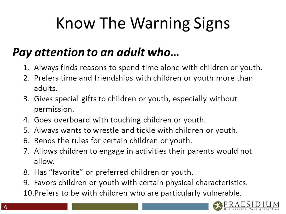Know The Warning Signs (Cont.)