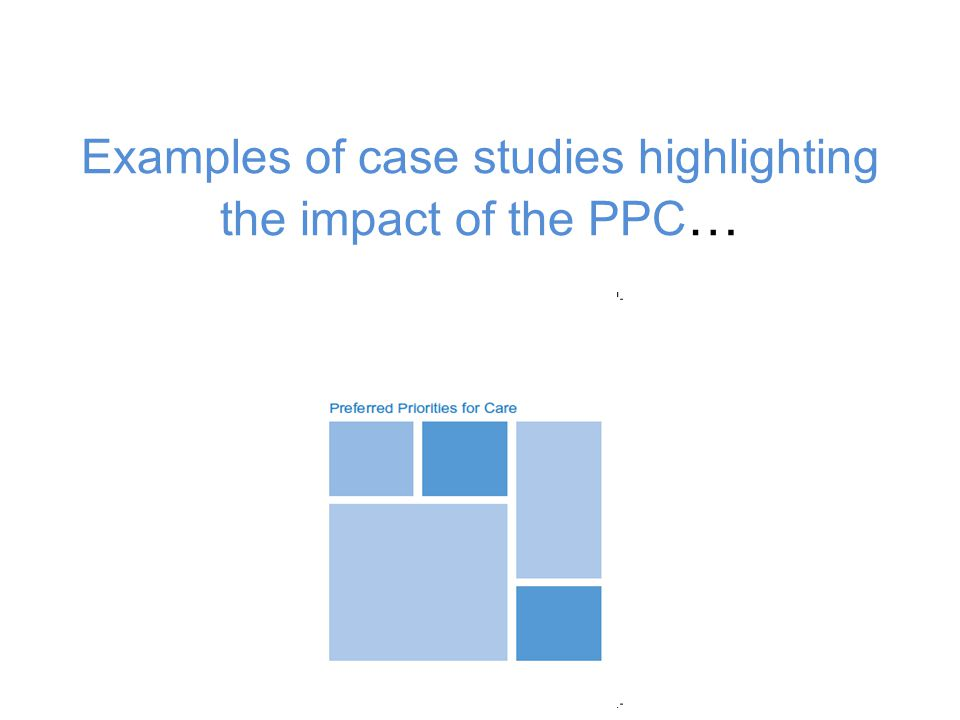 Examples of case studies highlighting the impact of the PPC…