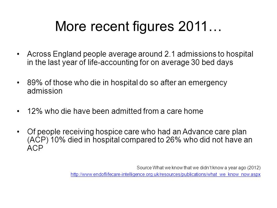 More recent figures 2011…