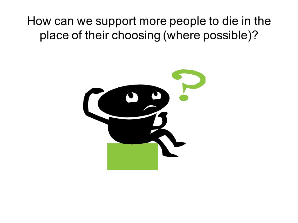 How can we support more people to die in the place of their choosing (where possible)