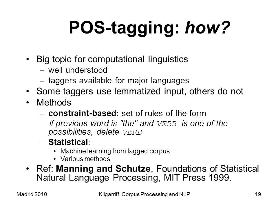 Kilgarriff: Corpus Processing and NLP
