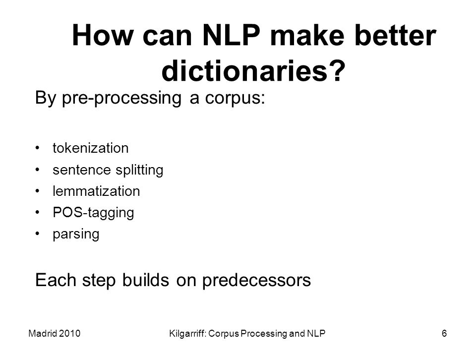 How can NLP make better dictionaries