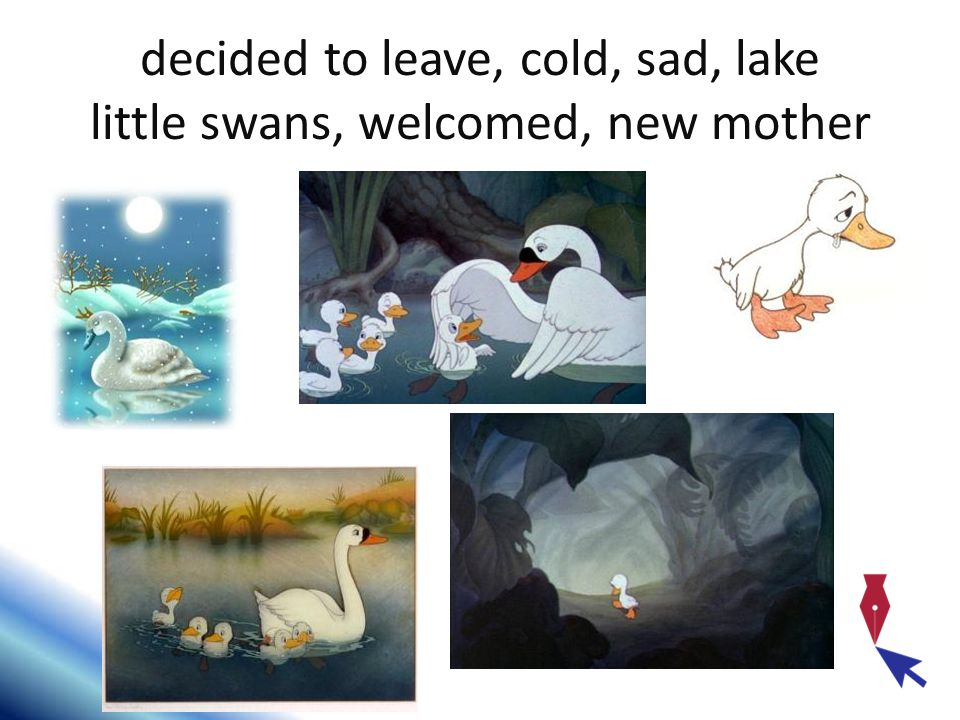 decided to leave, cold, sad, lake little swans, welcomed, new mother