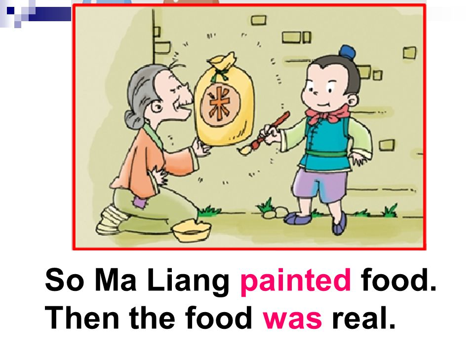 So Ma Liang painted food.