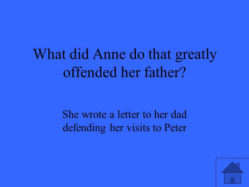 What did Anne do that greatly offended her father