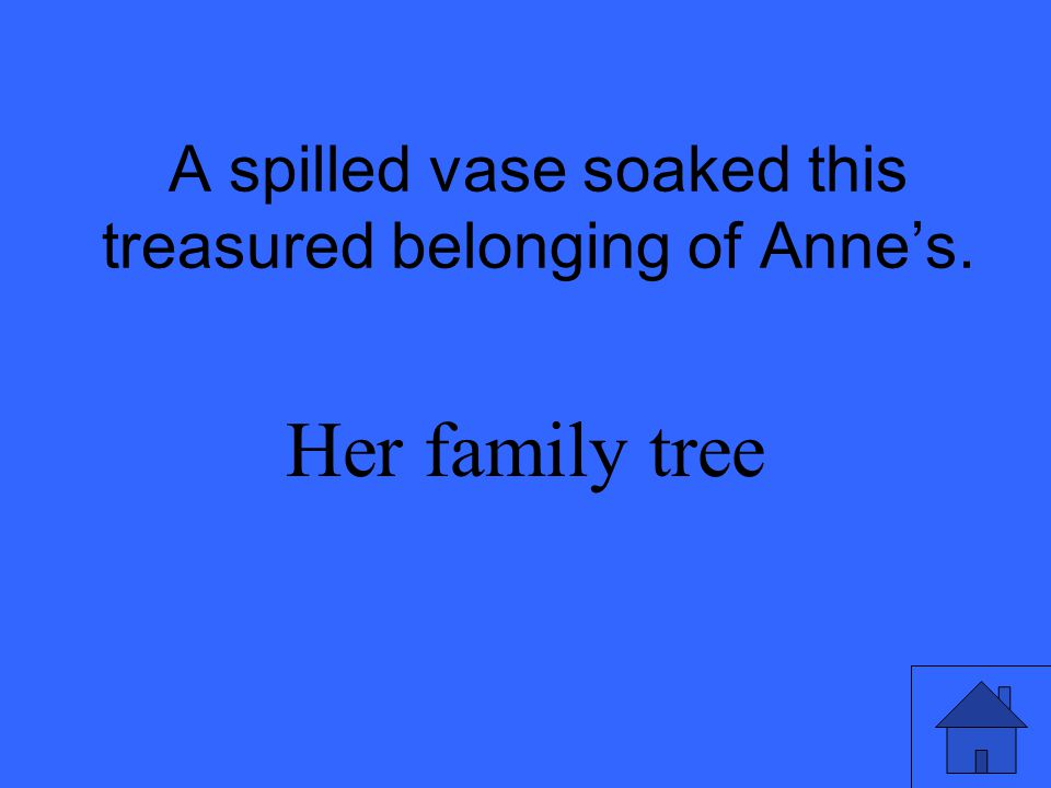 A spilled vase soaked this treasured belonging of Anne's.