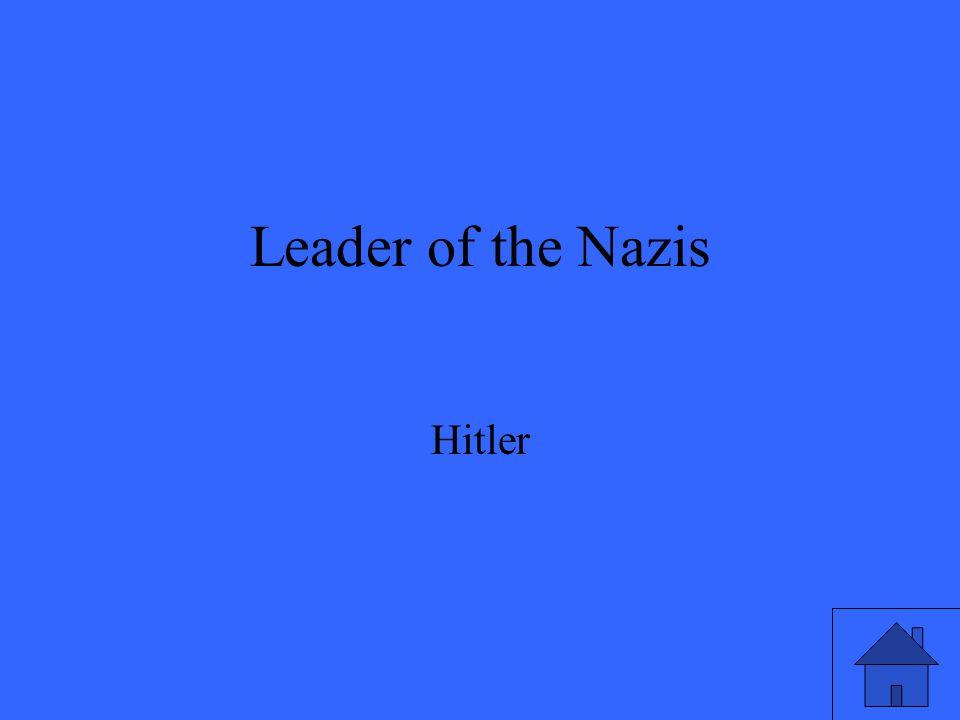 Leader of the Nazis Hitler