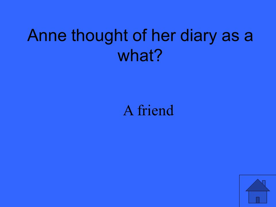 Anne thought of her diary as a what