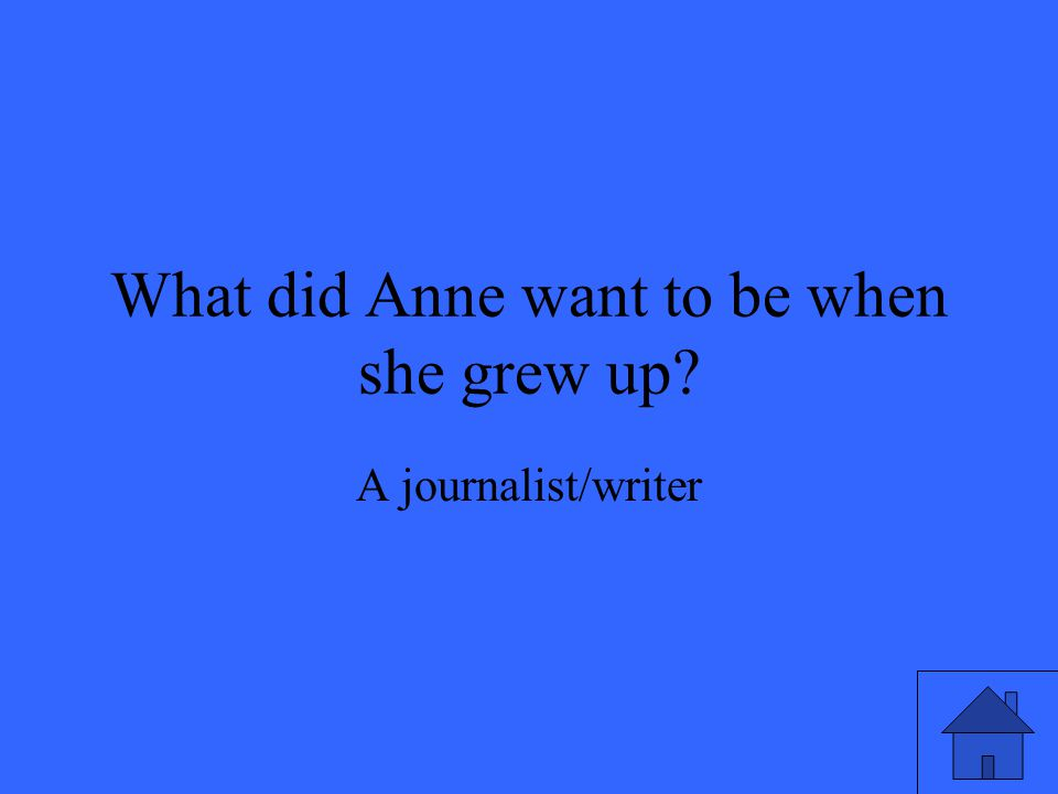 What did Anne want to be when she grew up