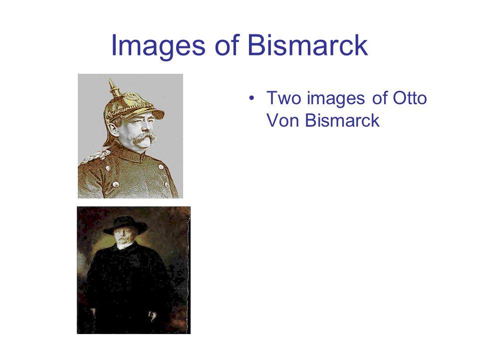 Images of Bismarck Two images of Otto Von Bismarck