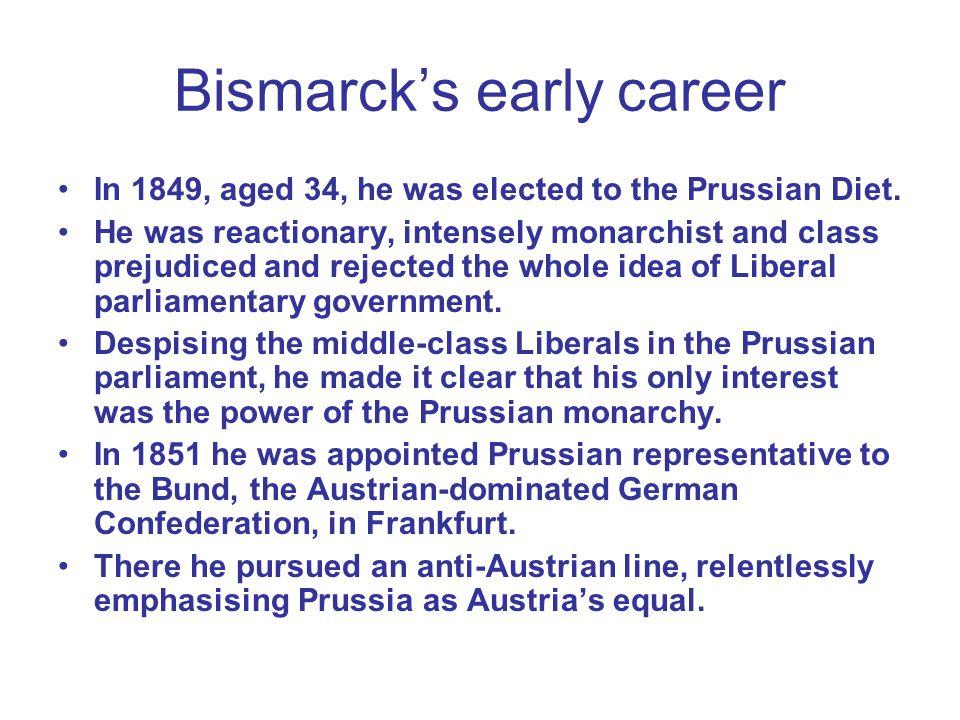 Bismarck's early career