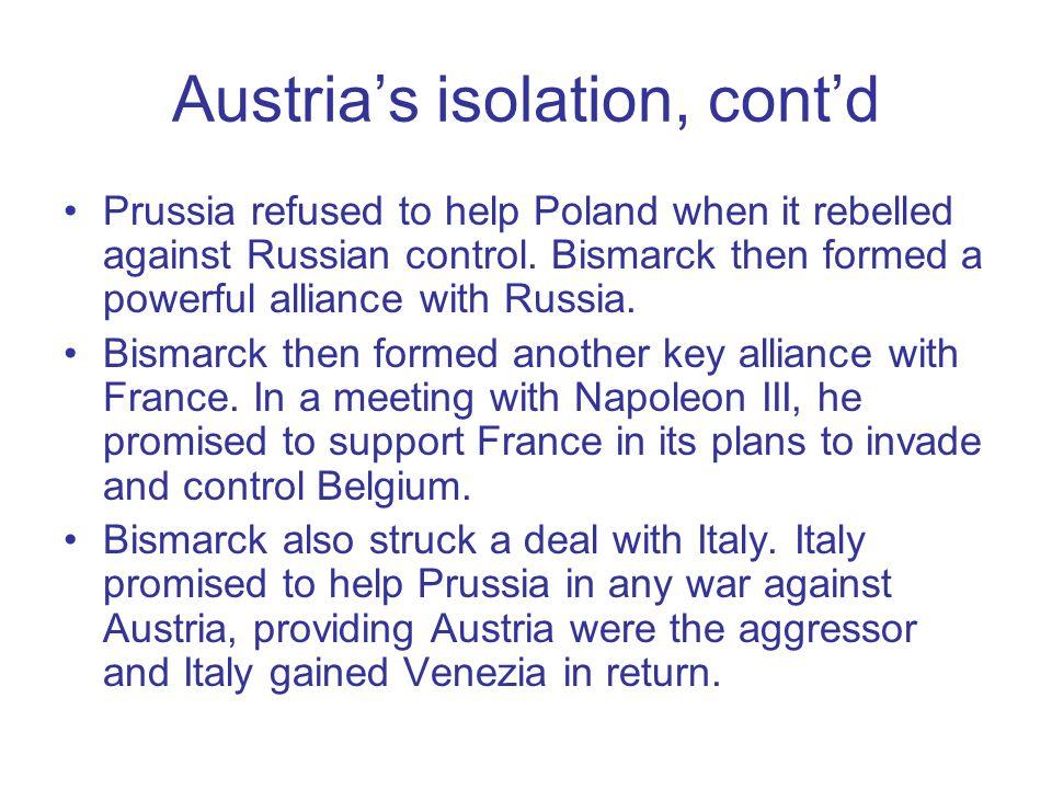 Austria's isolation, cont'd