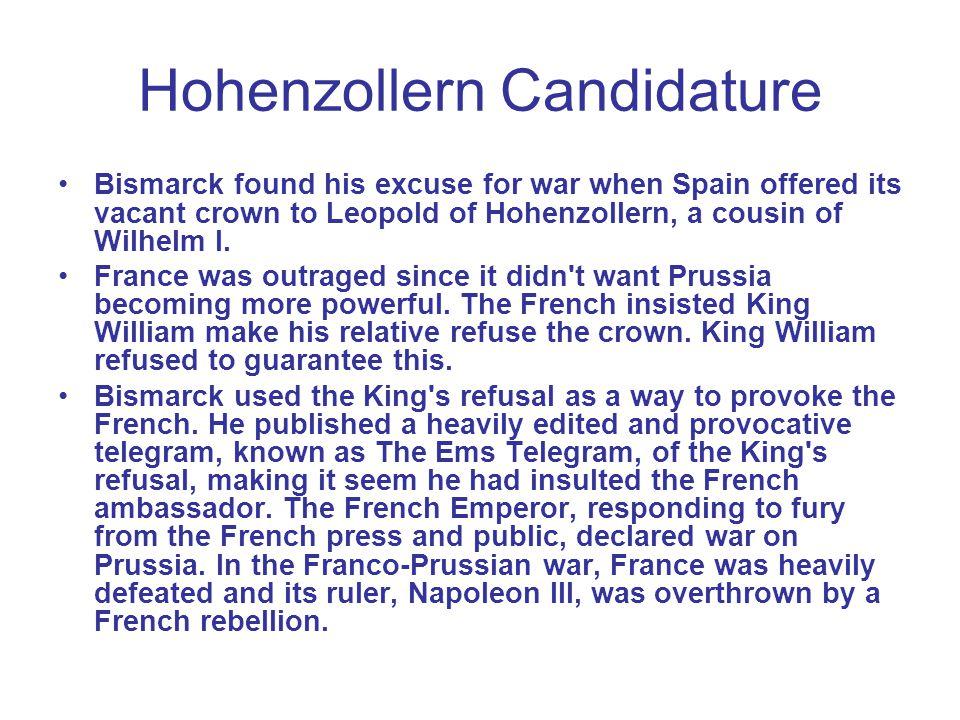 Hohenzollern Candidature
