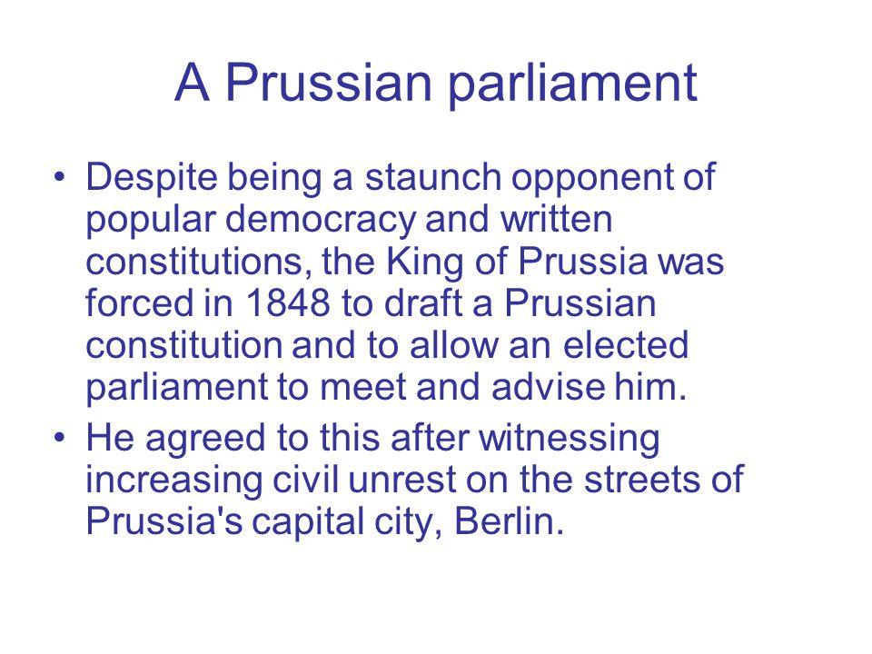 A Prussian parliament