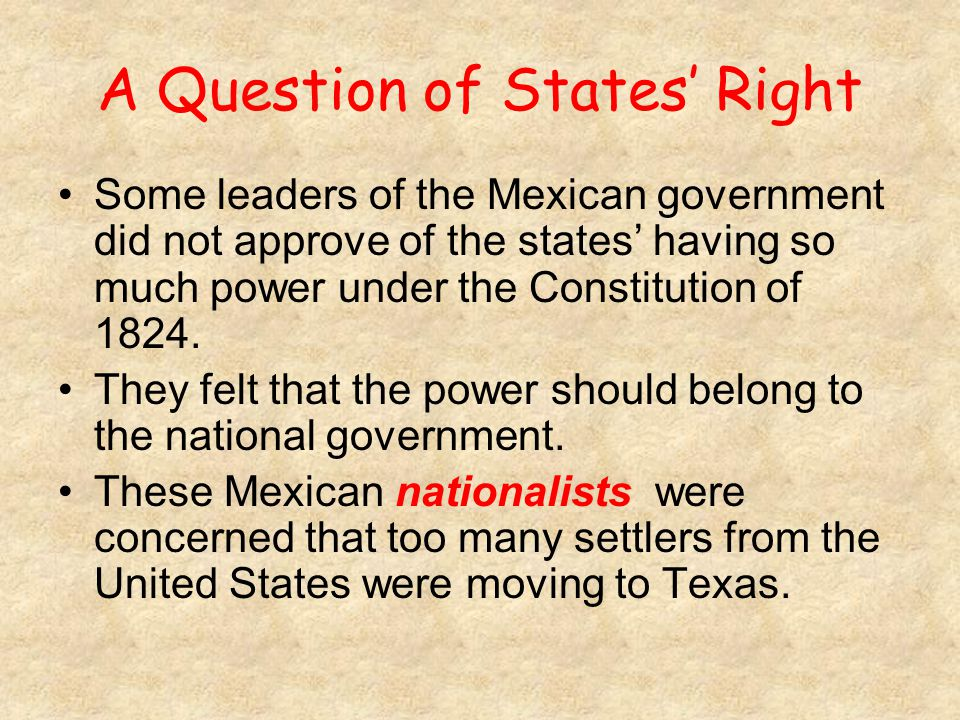 A Question of States' Right