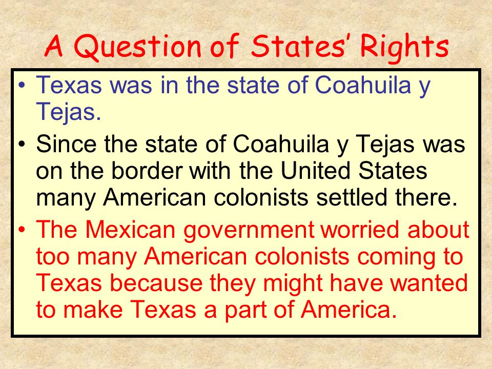 A Question of States' Rights